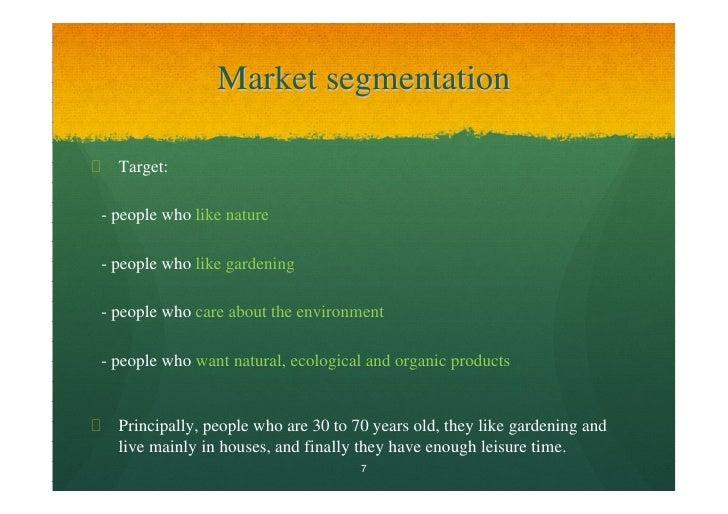 Free marketing plan sample of a gardening retailer for Cd market galeria jardin