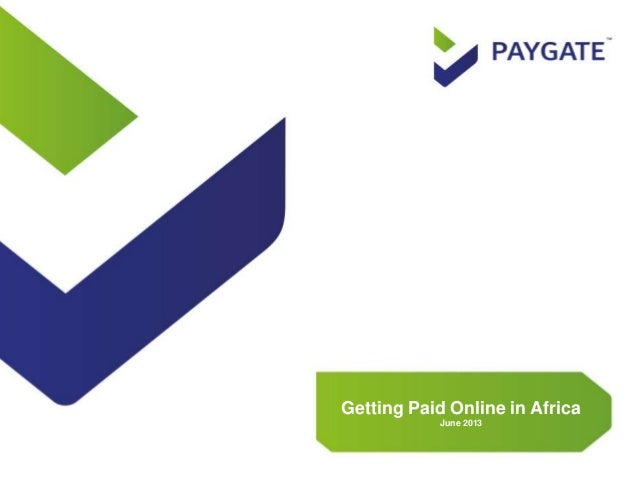 Getting Paid Online in Africa June 2013