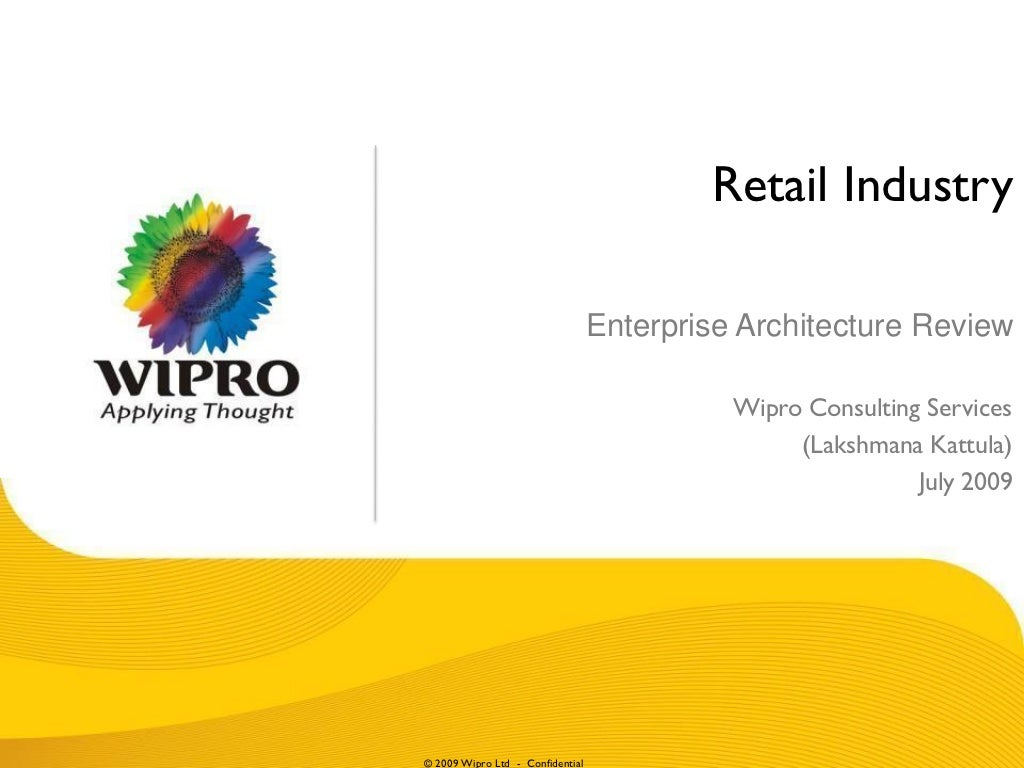 Retail Industry Enterprise Architecture Review