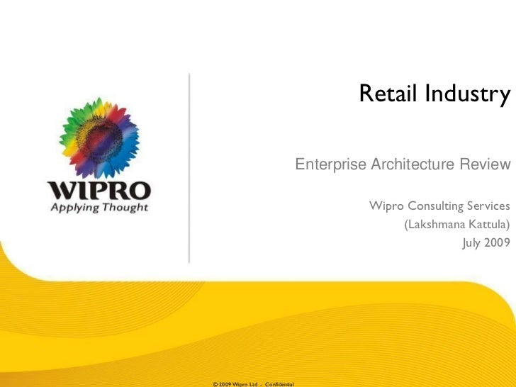 Retail Industry                                  Enterprise Architecture Review                                           ...