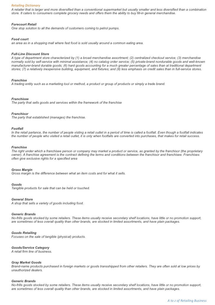 retail terms and conditions template