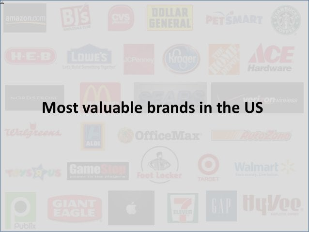 Most valuable brands in the US (2012)                                                            Continued..Source: http:/...