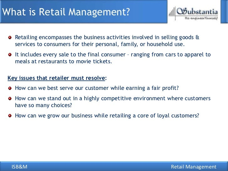 RETAIL MANAGEMENT CAREERS