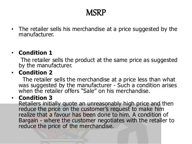 pricing strategy in retail pdf