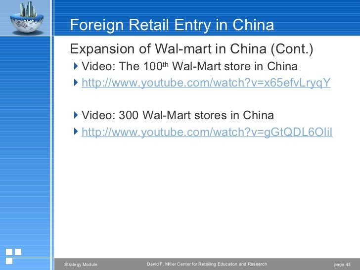 walmarts marketing strategy in china Walmart's marketing mix or 4ps (product, price, promotion, place) is analyzed recommendations are given on walmart's marketing mix strategy.