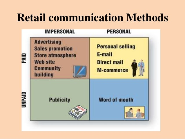 retail communication Retail communication strategies that register one of the biggest challenges in the retail industry is enabling your workforce to stay in contact with each other without proper communications, routine tasks like inventory management and price checks, suspicious behavior alerts, and clean-ups take far more time, which prevents floor staff from.