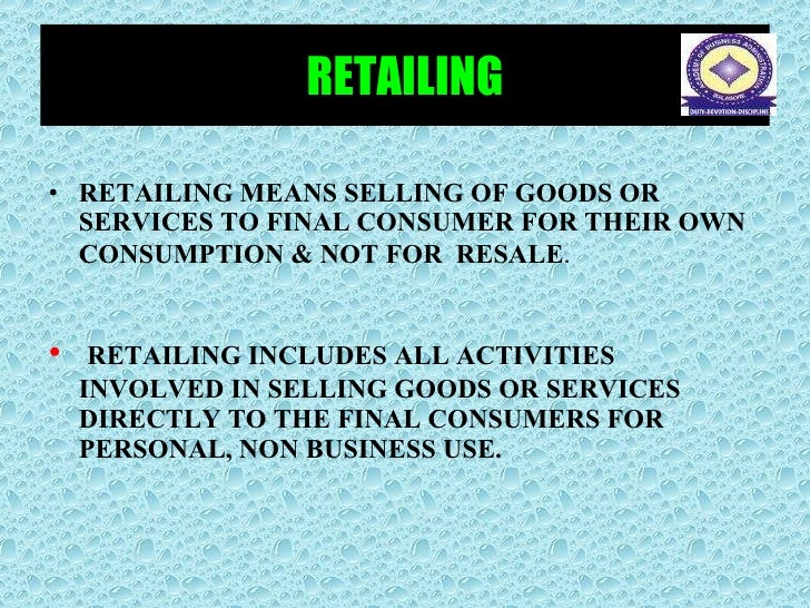 retailing wholeselling Wholesale vs retail the terms wholesale and retail themselves explain the difference wholesale means selling in large quantities and retail means.