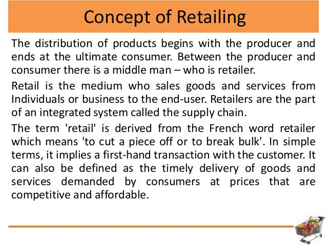 retail management a component of marketing Explore the exciting world of retail at chetana's retail management programme  which is based on modern technology, market experience and constant.