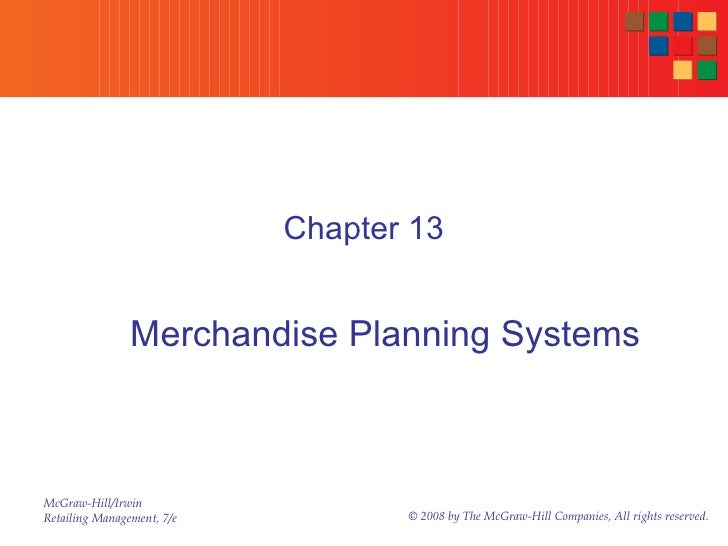 Chapter 13 Merchandise Planning Systems
