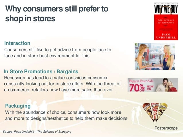 Source: Paco Underhill – The Science of Shopping Interaction Consumers still like to get advice from people face to face a...