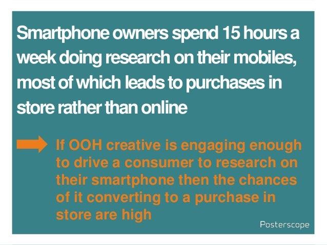 Smartphoneownersspend15hoursa weekdoingresearchontheirmobiles, mostofwhichleadstopurchasesin storeratherthanonline If OOH ...