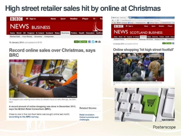 High street retailer sales hit by online at Christmas