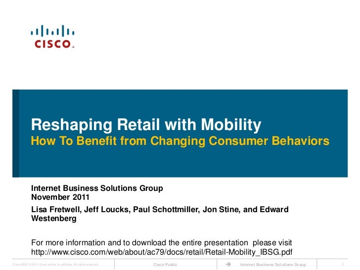 Reshaping Retail with Mobility             How To Benefit from Changing Consumer Behaviors              Internet Business ...