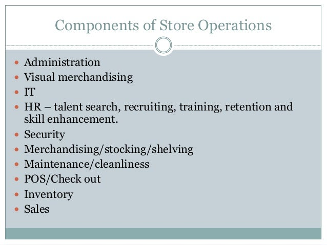 """operations management in the retail sector A project report""""study of operations at retail industry"""" in partial project report-on-operations-retail operations management is all about."""