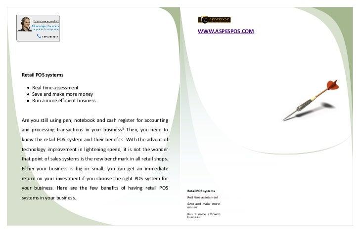 WWW.ASPESPOS.COMAddress line 01Address line 02Phone: 425.555.0155Fax: 425.555.0156Email: name@companyname.com    Retail PO...