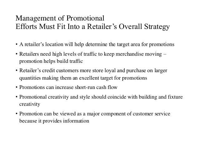 study on strategies for promoting retailers Study makes an attempt at understanding the marketing strategies of retailer   price, place, promotion greatly influence modern marketing and customer.