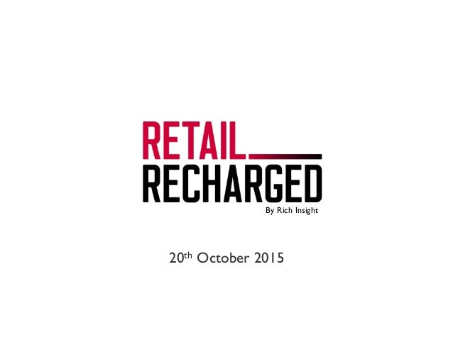 Introducing Retail Recharged. Unravelling the best of