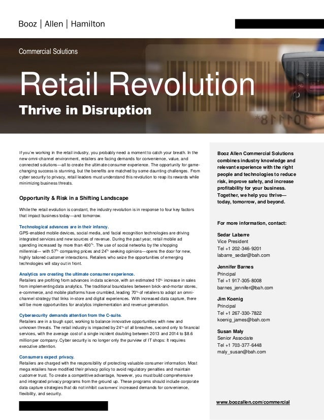 Commercial Solutions Retail Revolution Thrive in Disruption If you're working in the retail industry, you probably need a ...