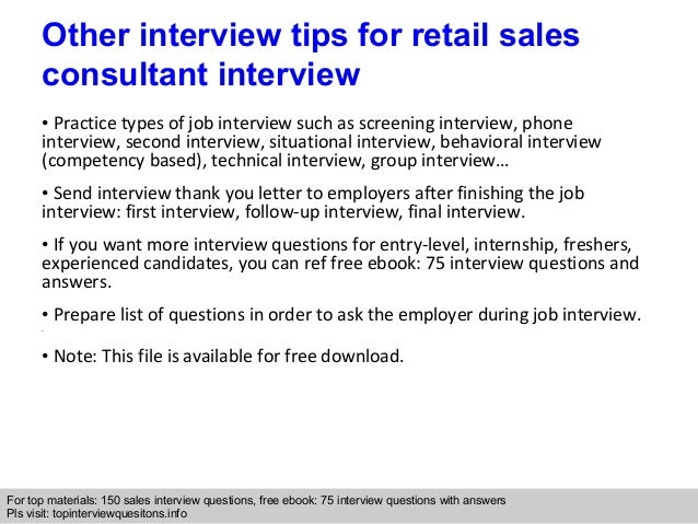 Captivating Interview Tips For Retail