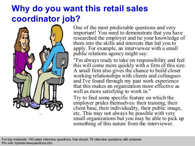 Retail sales coordinator interview questions and answers – Sales Coordinator Job Description