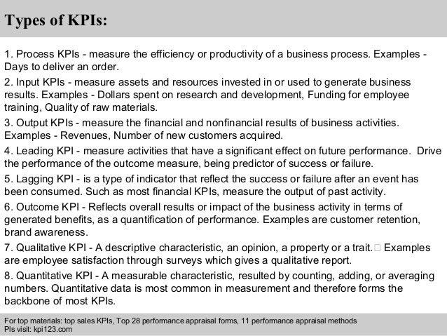 Retail sales executive kpis