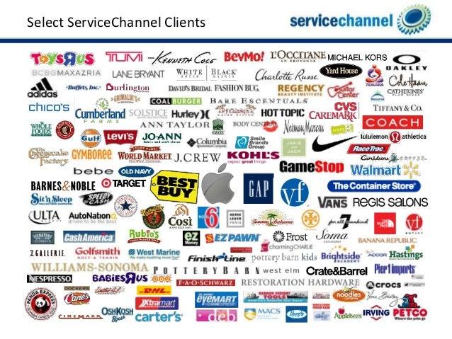 Select ServiceChannel Clients ...