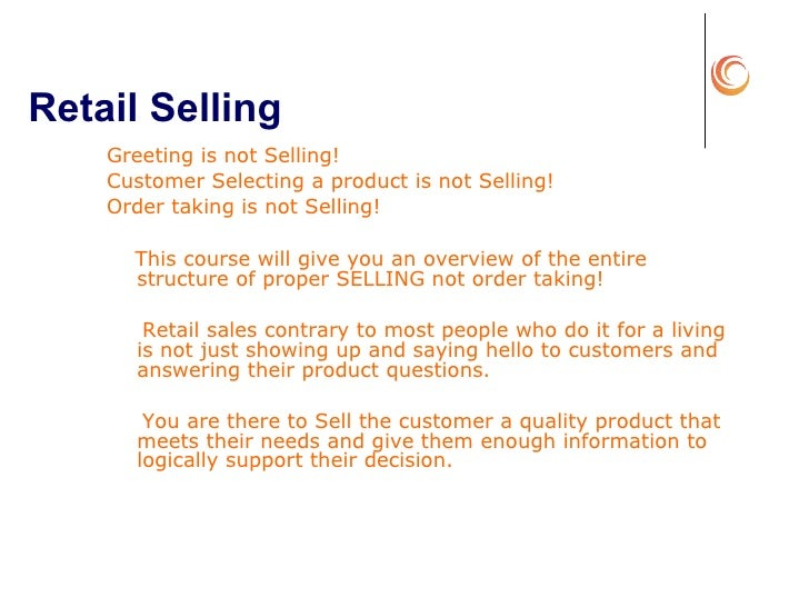 Retail Sales Training