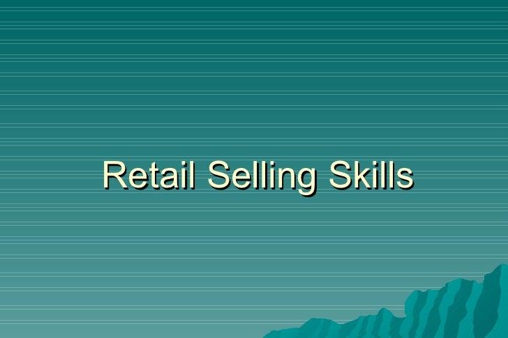 Retail Selling Skills