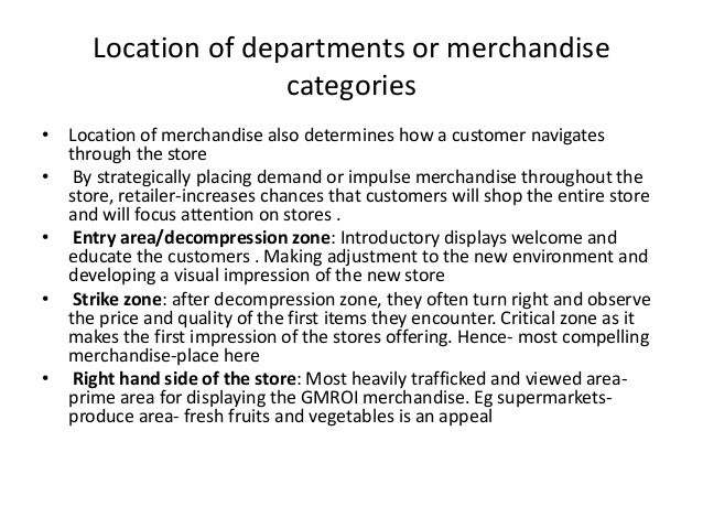 0cf20f10acf00 ... availability of fixtures  41. Location of departments or merchandise  categories ...