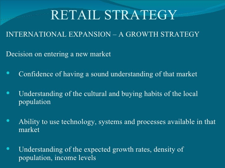 retail expansion strategy summary Starbucks corporation (nasdaq: sbux) started off its fiscal 2016 on a strong  note, as it reported comparable store sales growth in all its.