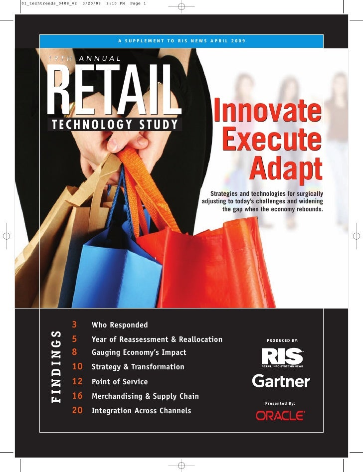 A SUPPLEMENT TO RIS NEWS APRIL 2009   19TH ANNUAL     RETAIL                                             Innovate TECHNOLO...