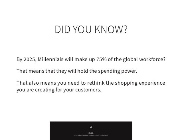 • A seamless shopping experience across all channels • Personalization • Instant access to price comparisons, product i...