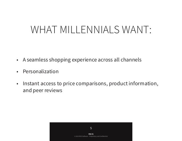 """""""Retailers need to be aware of the unique preferences of the Millennial generation and create shopping experiences that sa..."""