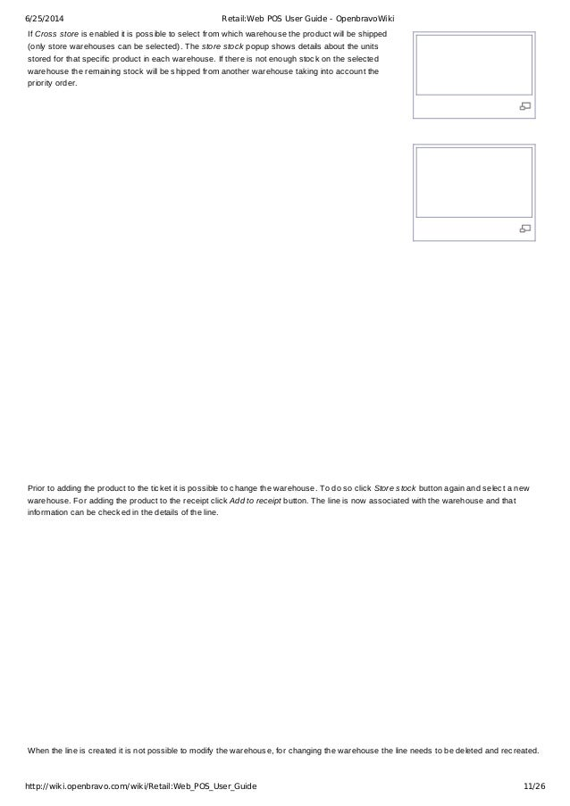 Retail Web Pos User Guide Openbravo