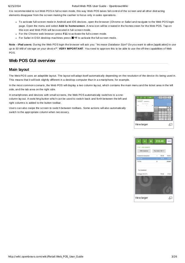 retail web pos user guide openbravo rh slideshare net openbravo web pos user guide openbravo pos user guide pdf