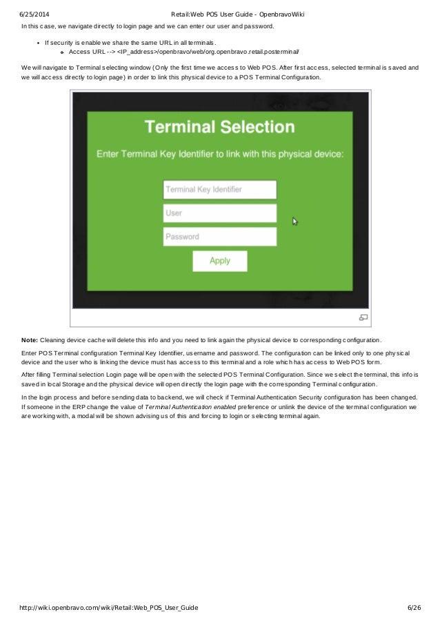 retail web pos user guide openbravo rh slideshare net Best Open Source POS openbravo pos user guide pdf