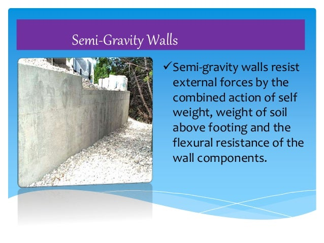 earth retaining wall design