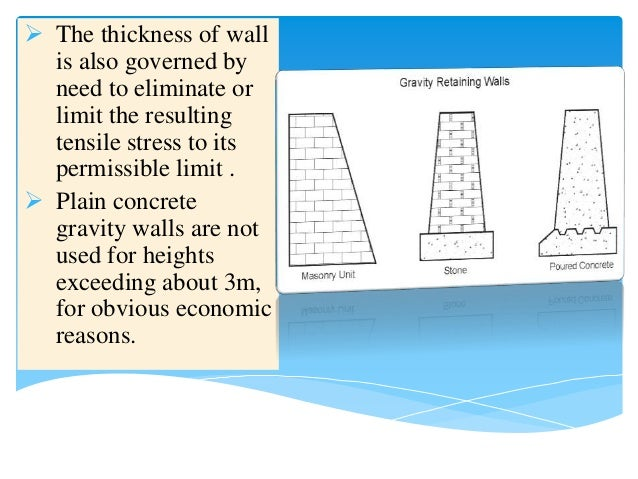 ... Concrete Gravity Walls; 8.  The Thickness ...