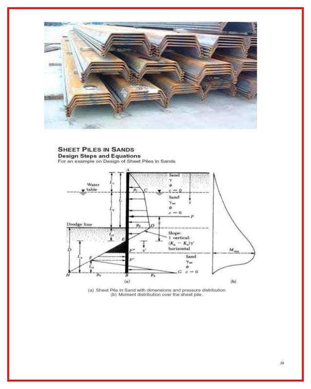 Retaining walls (الجدران الاستنادية)-steel sheet piles