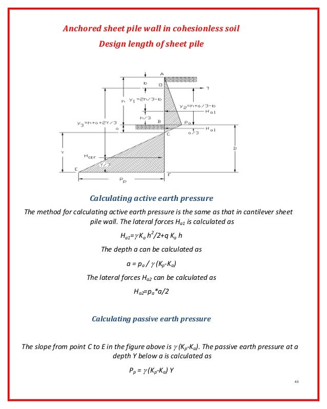 secant pile wall design example pdf