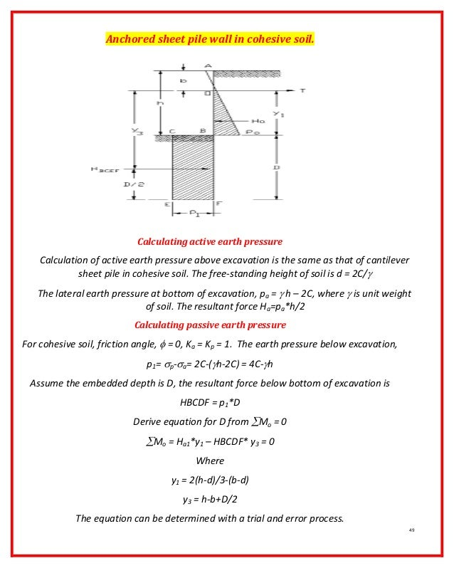 Free Standing Wall Design Calculation