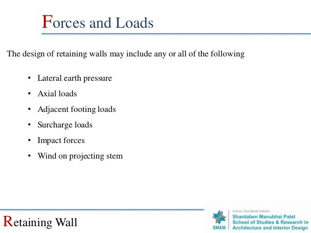 Retaining Wall Surcharge Load