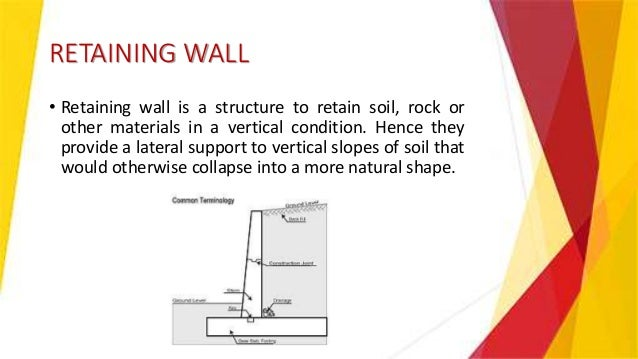 Retaining Wall Design Of Reinforced Concrete Structure