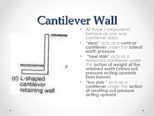 Get Answer Provide Structural Design Of The Retaining Wall An