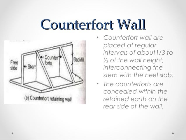 Design Of Counterfort Retaining Wall : Retaining walls