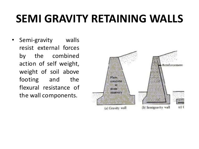 Retaining Walls - design of a gravity retaining wall