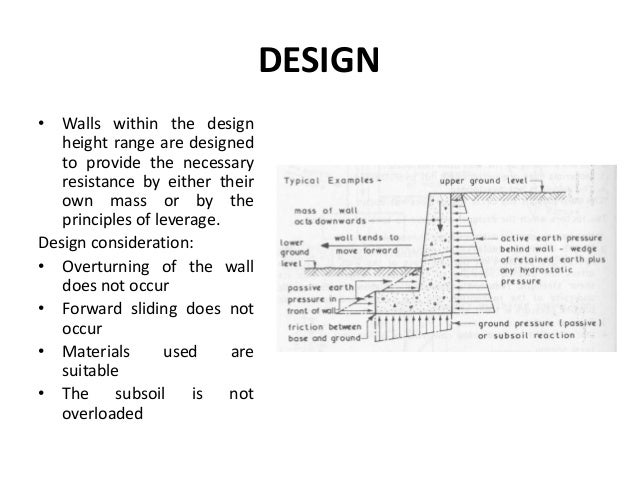 parts of a retaining wall 5 design - Retaining Wall Design Examples