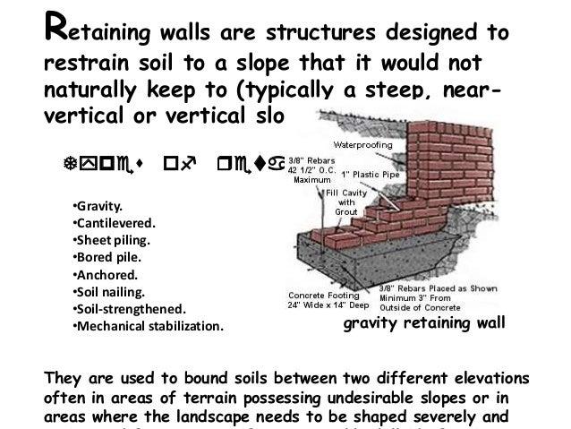Retaining Walls And Slope Stabilisation Methods