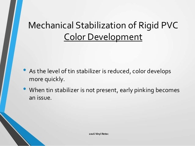 Lubrication And Mechanical Stabilization Of Rigid Pvc