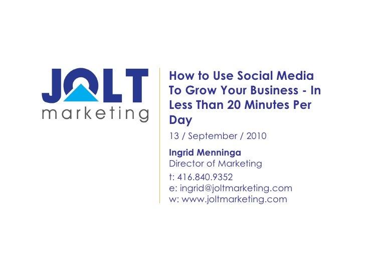 RETechTO JOLT Marketing with Ingrid Menninga